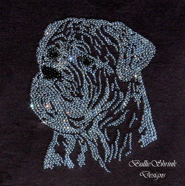 Swarovski Crystal Bullmastiff Head