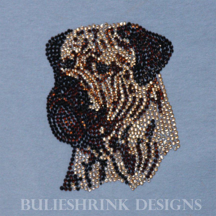 Swarovski Colored Crystal Bullmastiff Headpiece