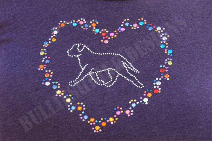 Running Bullie With Heart Design