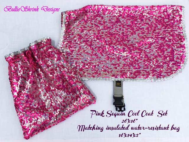 Pink Sequin Cool Coat and Cooling Bag Set