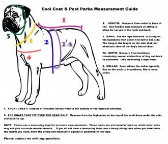 Cool Coat Posh Parka Measurement Guide