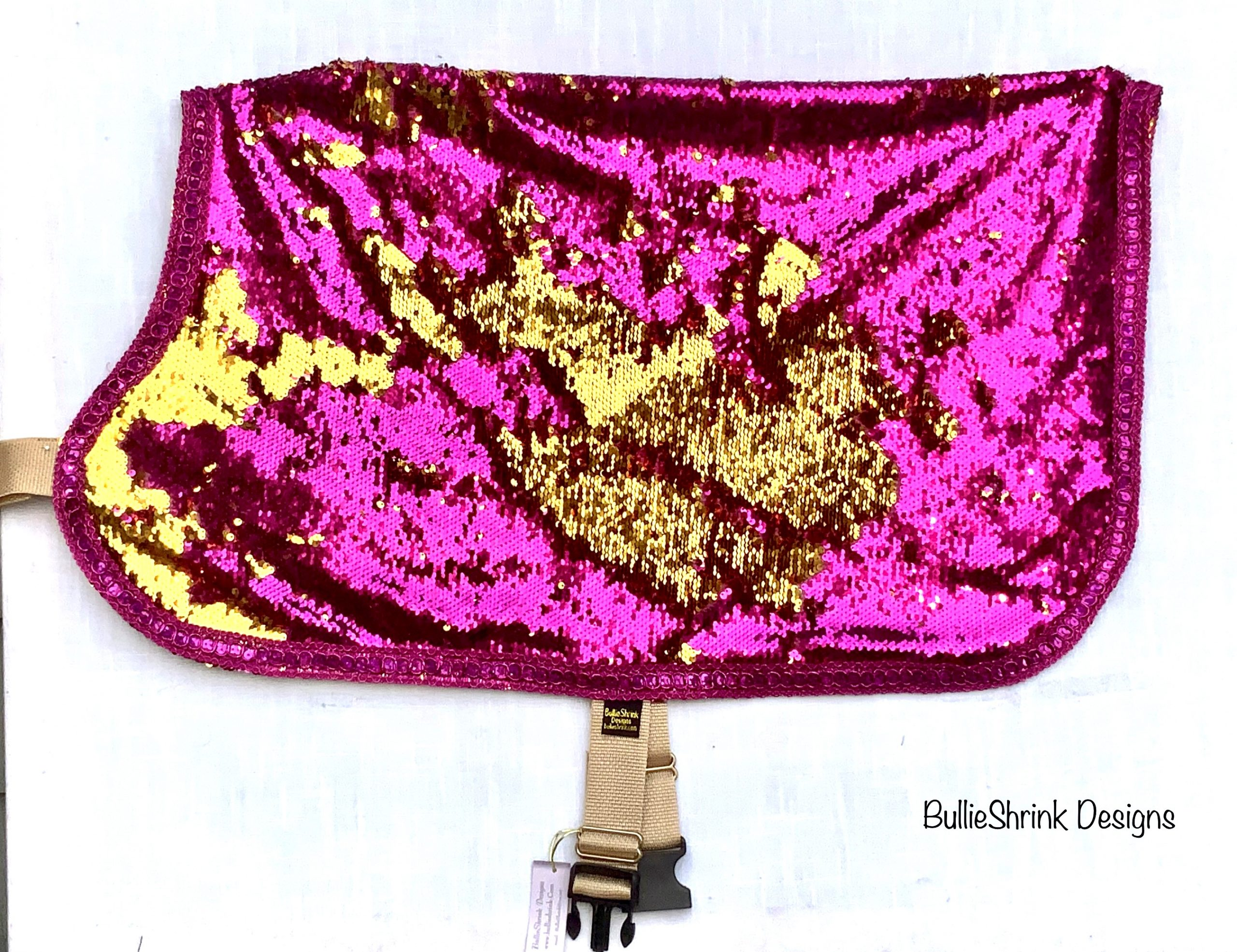 """Pink & Gold Reversible Sequins"""