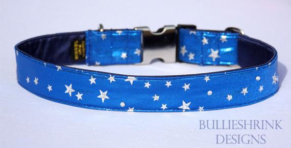 Blue Stars with Swarovski crystals